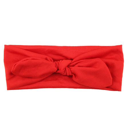 SOLID KNOT HEADBAND - RED