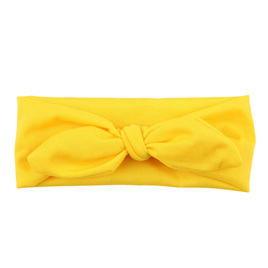 SOLID KNOT HEADBAND - YELLOW