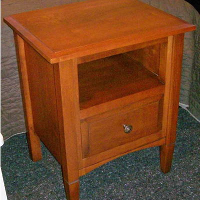 Charters Bedside Cabinet Shelf & Drawer