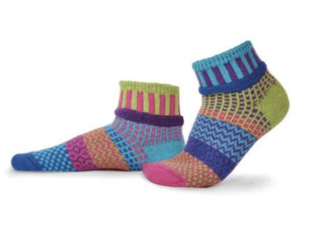 Solmate Socks Adult Quarter Socks Bluebell Large