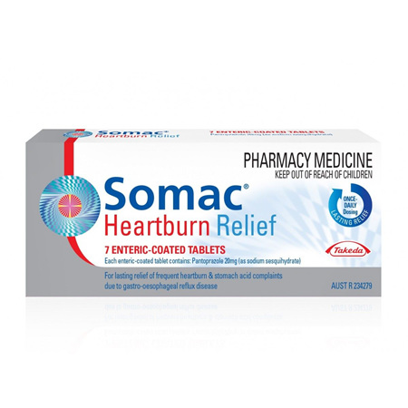 Somac Heartburn Relief 20mg Tablets, 7 Pack