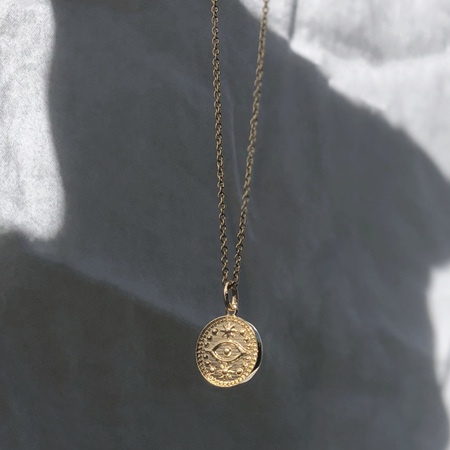 Some 18K Gold Necklace - All Seeing Eye