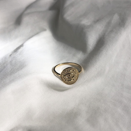 Some 18K Gold Ring - Egyptian Eye