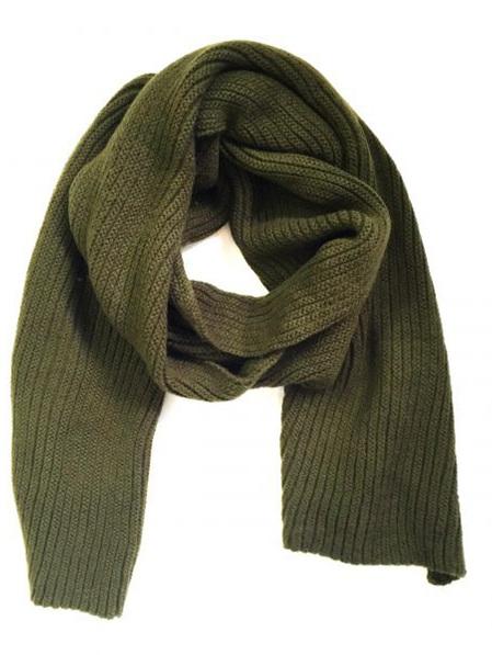 Some Fluffy Knit Big Scarf - Khaki Green