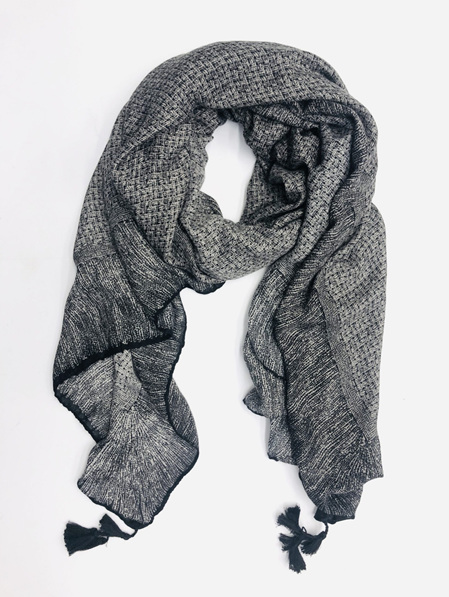 Some Scarf Weave Patterned - Black