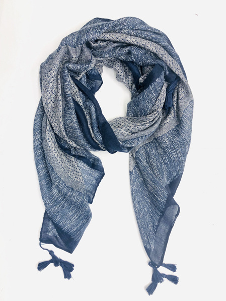 Some Scarf Weave Patterned - Navy & Black