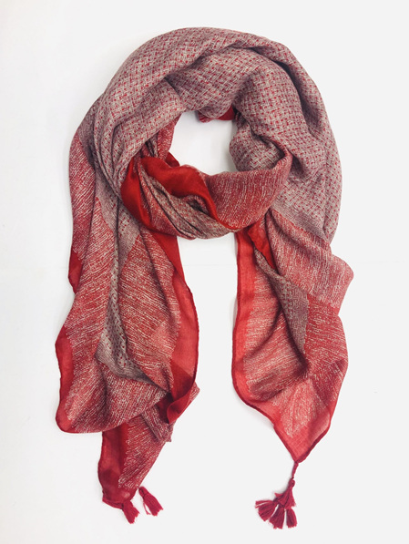 Some Scarf Weave Patterned - Red