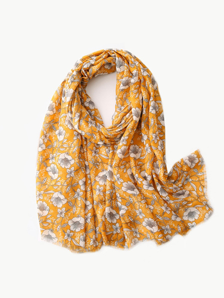 Some Scarf Yellow with White Flower
