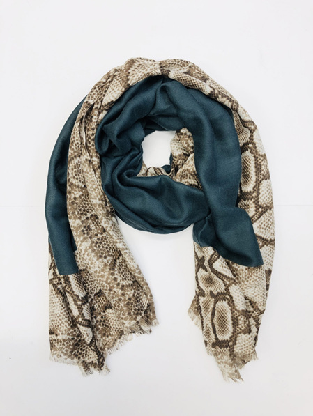 Some Snake Skin Scarf - Peacock Green