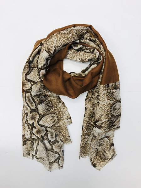 Some Snake Skin Scarf - Rust