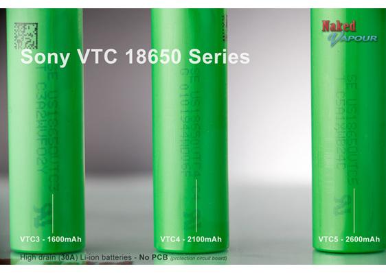 Sony VTC battery range