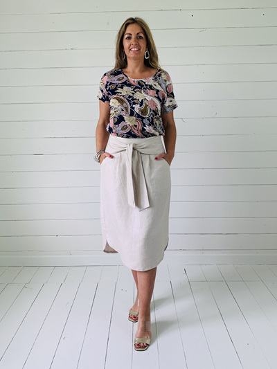 Sophia Skirt - Natural