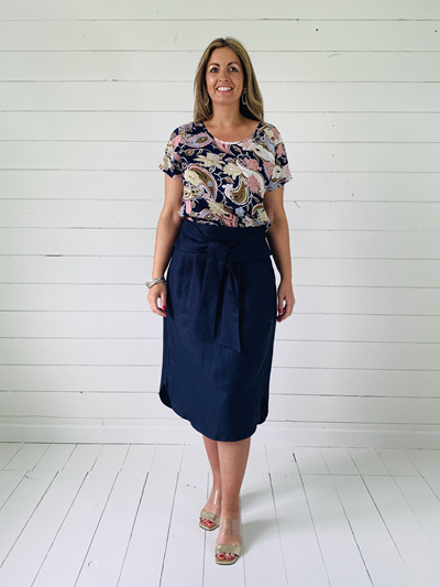 Sophia Skirt - Navy