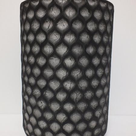 Sorrento tin vase Black C3890