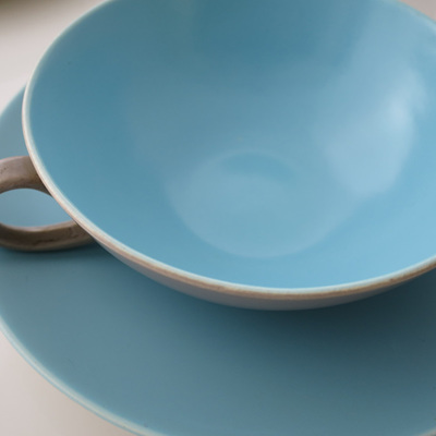 Soup bowls and saucers