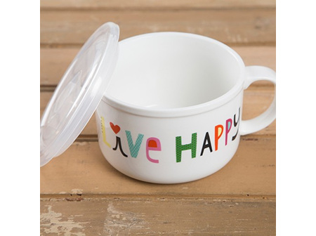 Soup Mug-Live Happy