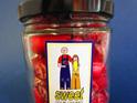 sour cherry rock candy jar