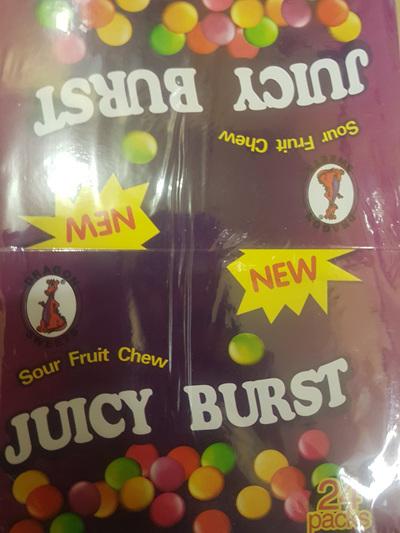 Sour fruit chew packs x 24 x 42g