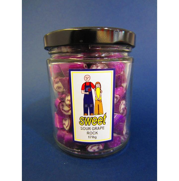 sour grape rock candy jar