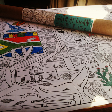 South African Colouring-In Poster