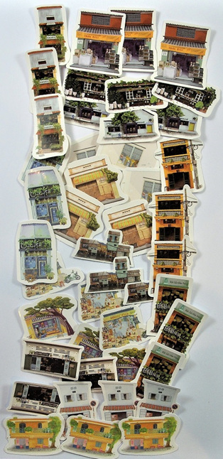 South-East Asian City Life Stickers