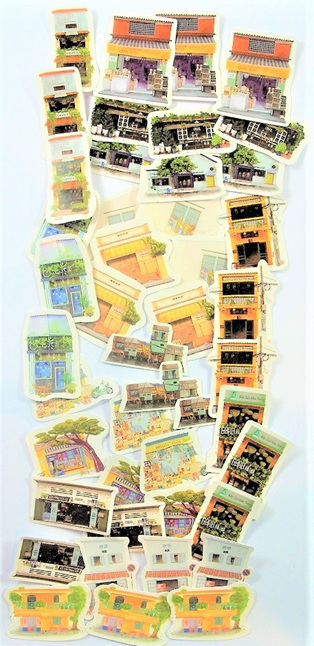 South-East Asian City Life Stickers CLEARANCE