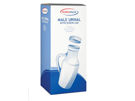 SP Male Urinal w/Handle & Lid