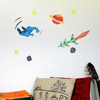 Spaceman Blue wall decal