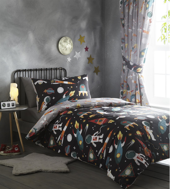 Spaceman Single Reversible Duvet Cover Set Little Bugs
