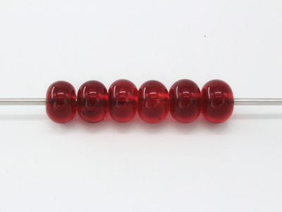 Spacer bead - transparent red