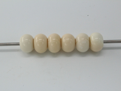 Spacer beads - opaque light ivory