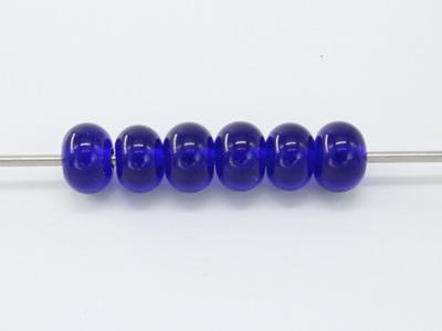 Spacer beads - transparent cobalt