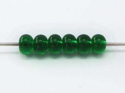 Spacer beads - transparent emerald