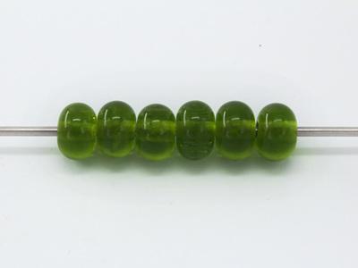 Spacer beads - transparent green grass dark