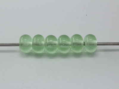 Spacer beads - transparent light emerald