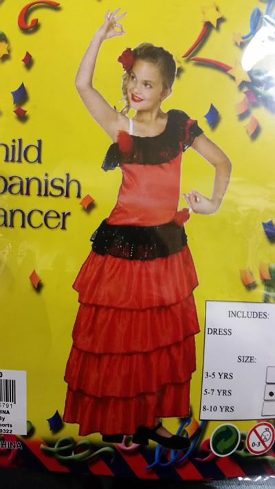 Spanish Dancer Costume - Child