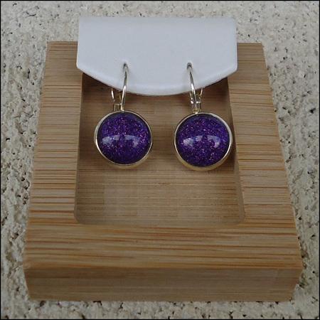 Sparkle Glass Dome Earrings