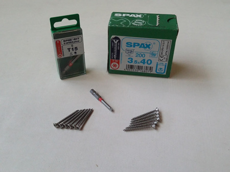 Spax 3.5g x 40mm Stainless Steel 304 Counter-Sunk T15 Drive Screws
