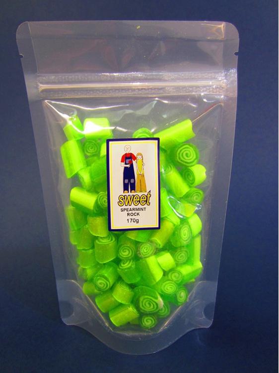 spearmint rock candy bag