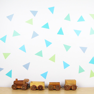 Spearmint Splash triangles wall decal