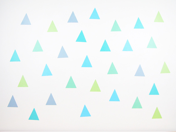 Spearmint triangle wall decals