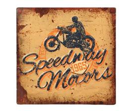 Speedway Motors Embossed Tin Sign