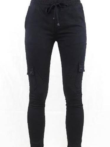 Spencer Cargo Jogger Jeans - Black