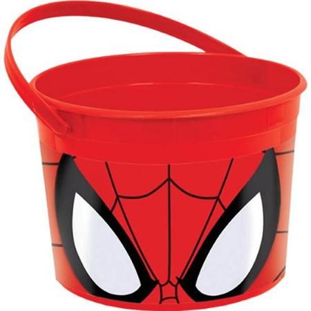 Spider- man plastic favor bucket