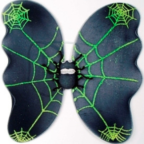 Spider Wings - Green Glitter