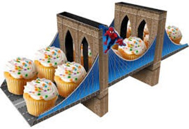Spiderman Cupcake Holder - Centrepiece