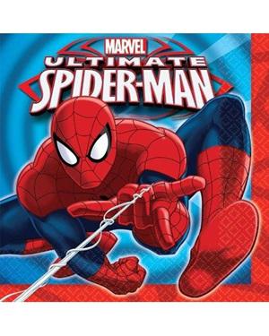 Spiderman Lunch Napkins x 16
