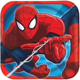 Spiderman Square Lunch plates x 8