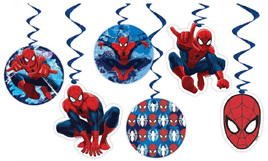 Spiderman Swirl Decorations - NEW