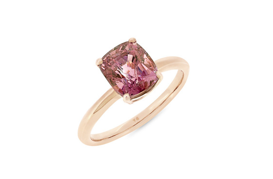 spinel gemstone rose gold solitaire ring